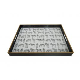 Quinn Rectangular Zebra Trays (Large)
