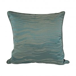 Emerald Green Wave Pillow