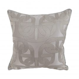 Silver Link Throw Pillow