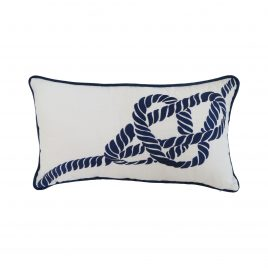 Navy Nautical Knotty Pillow