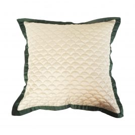 Quilted Pillow w/t Green Trim
