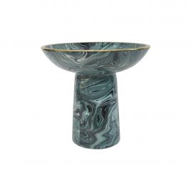 Green Agate Ceramic Pedestal (Large)