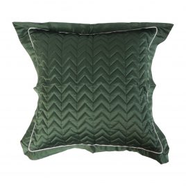Emerald Green Quilted Pillow
