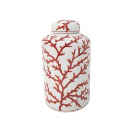 Red Coral Ginger Jar (Small)
