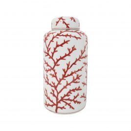 Red Coral Ginger Jar (Medium)
