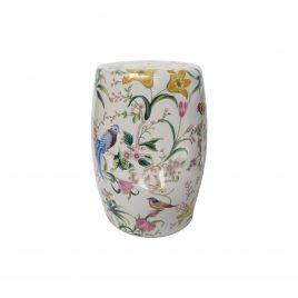 Parrot ceramic garden stool
