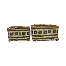 Monochrome Bamboo Basket (Set of 2)