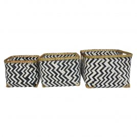 Monochrome Bamboo Basket (Set of 3)