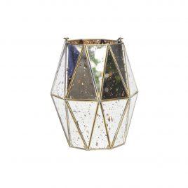 Antique mirror vase w/ Gold Trim (Small)