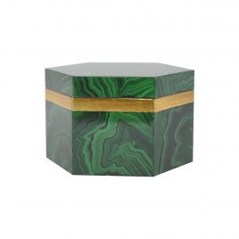 green malachite wooden box