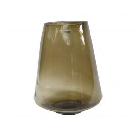 Mustard Glass Vase