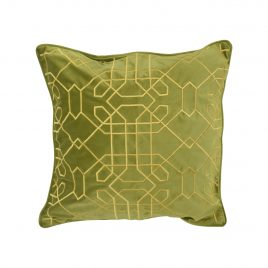 Mykonos Green Velvet Pillow