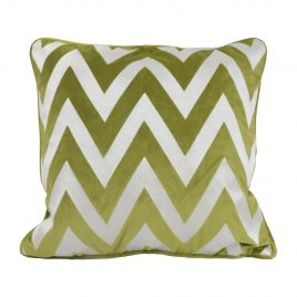 Green Zigzag Throw Pillow