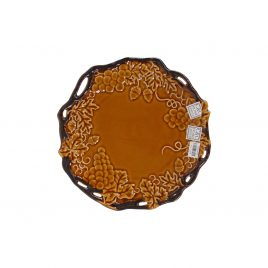 Ceramic Brown Grape Plate
