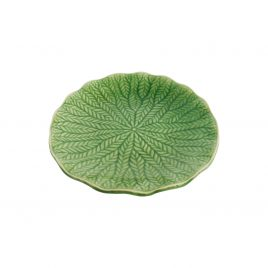 Green cabbage ceramic plate