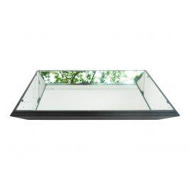 Antique rectangular mirror tray