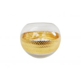 Decorative Glass Bowl with Gold Trim