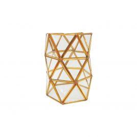 Glass Vase w/ Golden Edge
