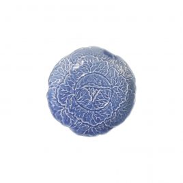 Blue cabbage ceramic plate