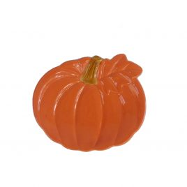 Orange Ceramic Plate: Pumpkin