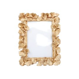 Golden Leaf Photo Frame