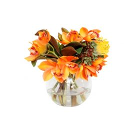 Yellow Flower Arrangement with Vase