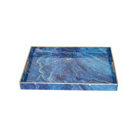 Blue Malachite Rectangular Trays (S)