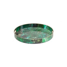 Green Malachite Round Trays (S)
