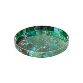 Green Malachite Round Trays (L)