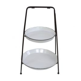 Metal 2-Tier Tray Shelf