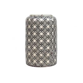 Geometric Pattern Ceramic Vase