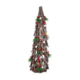 Wooden Christmas Tree with Decorative Cherry (L)