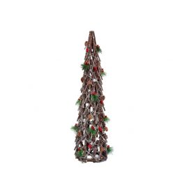 Wooden Christmas Tree with Decorative Cherry (S)