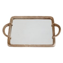 Golden Rope Mirror Tray