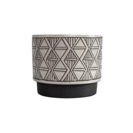 Black & White Geometric Ceramic Vase (L)