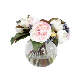 White Flower Arrangement with Vase