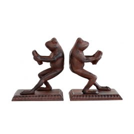 Metal Decorative Frog Bookend