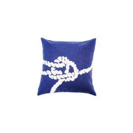 Navy Blue Nautical Knot Pillow