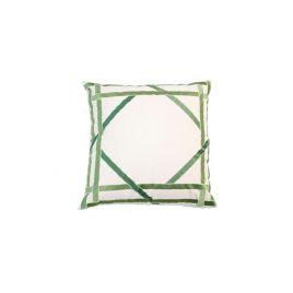 Geometric Bamboo Green Pillow
