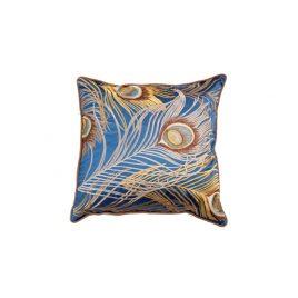 Royal Blue Peacock Pillow