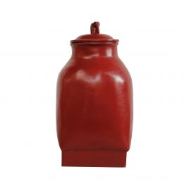 Red Lacquerware urn with lid