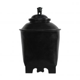 Black Lacquerware urn with lid