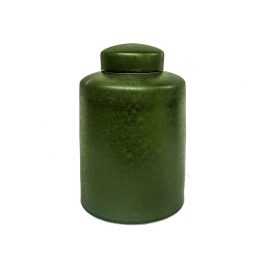 Kelly Green Ceramic Ginger Jar with Lid (S)