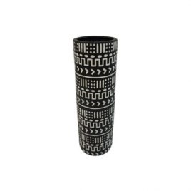 Black&White Pattern Ceramic Vase