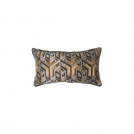 Copper Geometric Lumbar Cushion