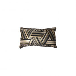 Geometric Black & Gold Lumbar Cushion