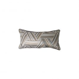 Geometric Grey Lumbar Cushion