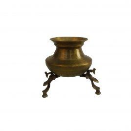 Raj.  Brass Milk pot with feet