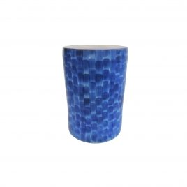 Blue Lagoon Ceramic Stool
