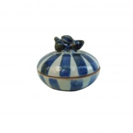 Bunny Stripe Ceramic Jewelry Box (L)
